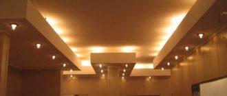 подстветка гипсокартонного потолка