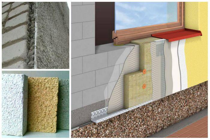 Картинки по запросу Как правильно нанести теплую декоративную штукатурку на стены фасада
