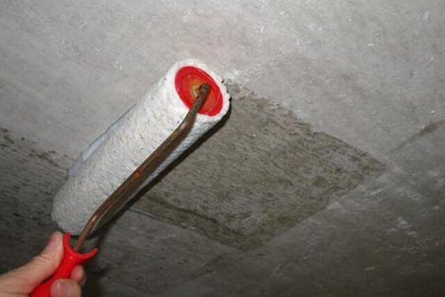 грунтовка бетонного потолка