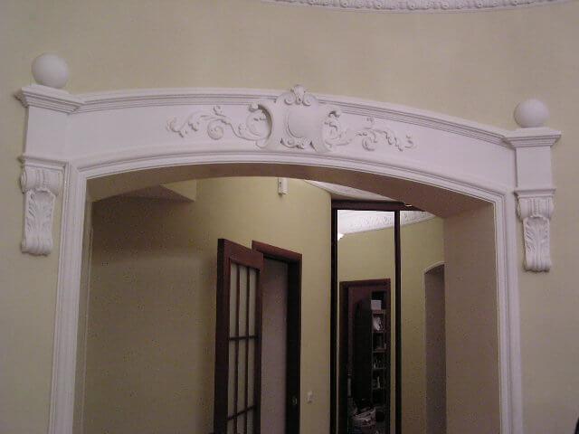 декор арки гипсом