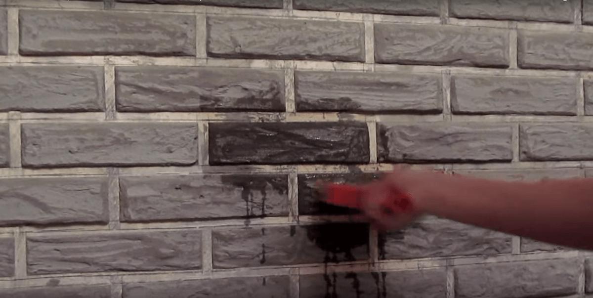 кирпичная стена из штукатурки