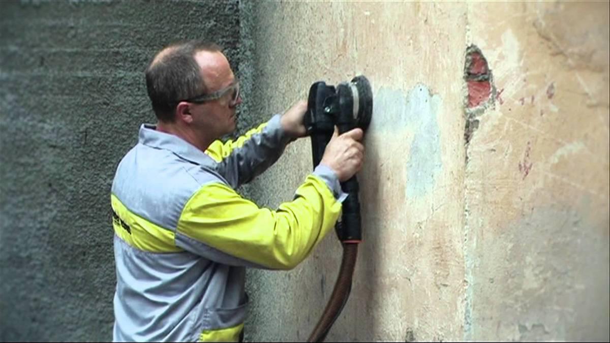 подготовка основания стены