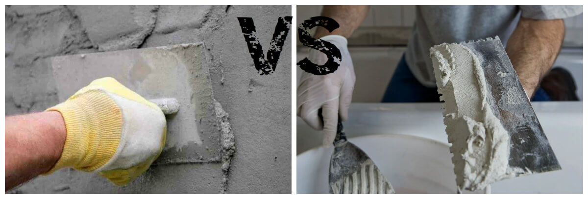 цементная штукатурка или гипсовая